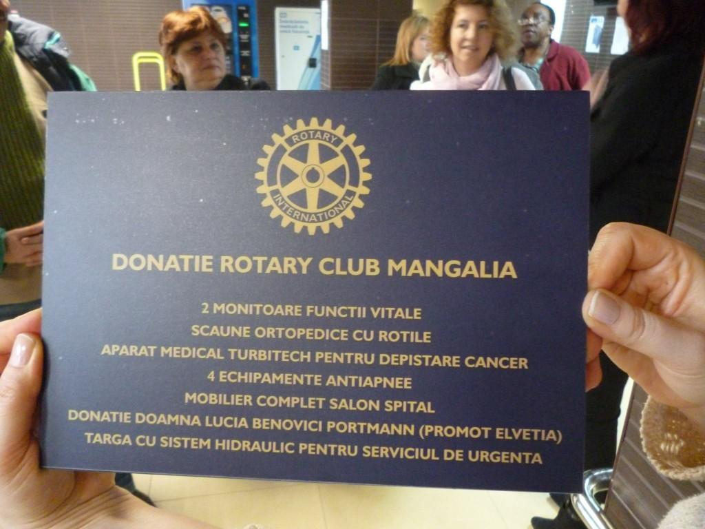 """Proiectul Rotary Club Mangalia """"Pretuieste-ti aproapele!"""""""